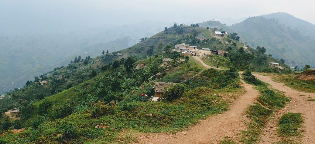 Village in the hills of Kyarumba, Rwenzori region