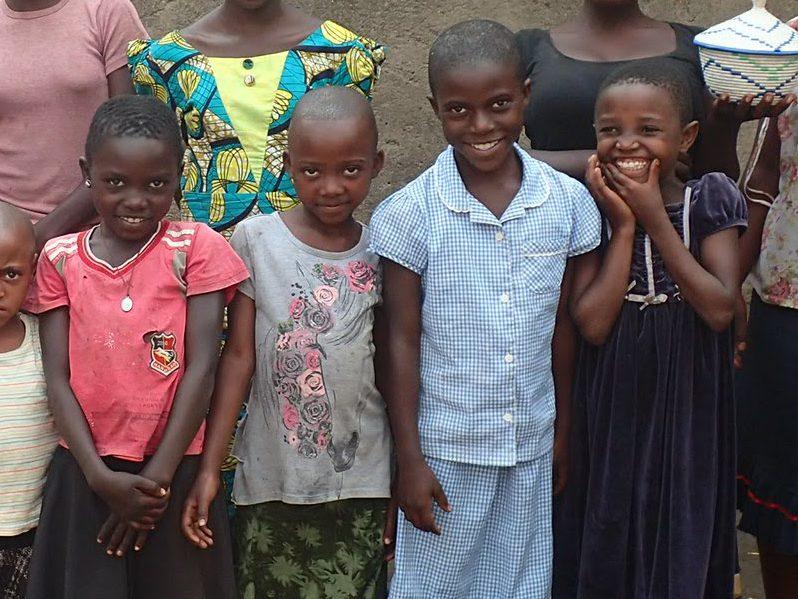 Young girl students in Kyarumba