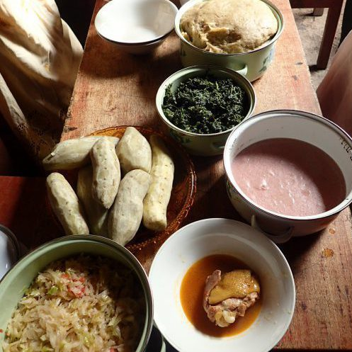 A traditional Rwenzori meal