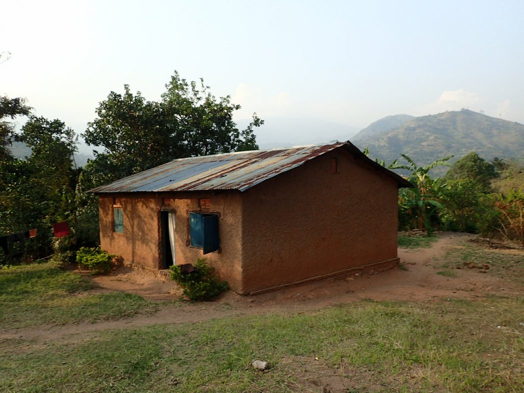 Traditional family home in the Rwenzori foothills