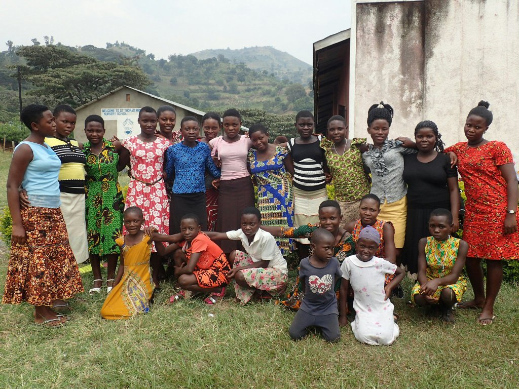 Students of Kyarumba girls' education group