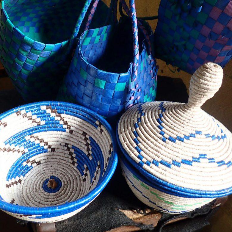 Baskets woven by Kyarumba women