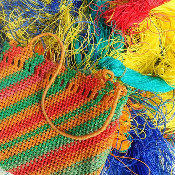 Purse and weaving materials