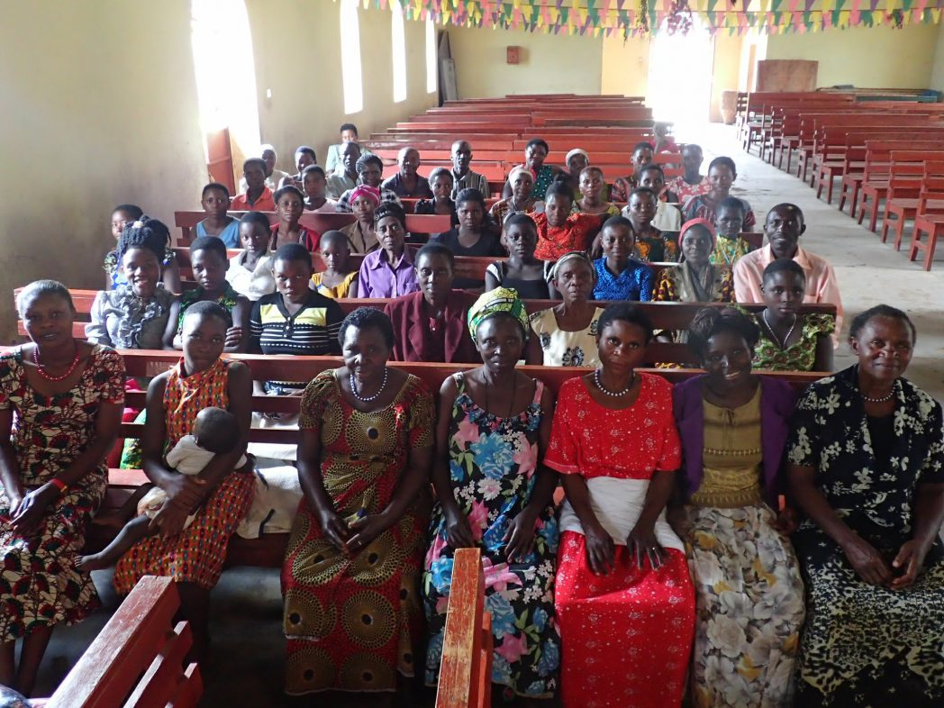 The Bwimaniro Women's Club meets in the local church